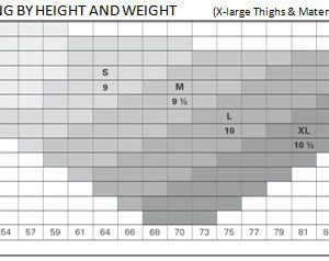legline-sizing-table